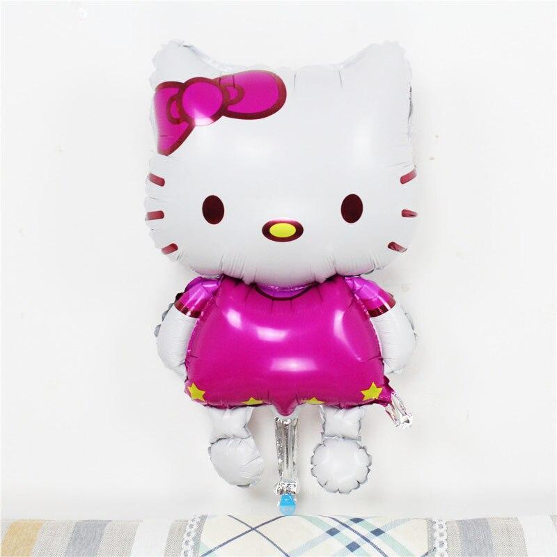 1pcs Hello Kitty Cat foil balloons cartoon birthday decor supplies wedding party inflatable cartoon air balloons Classic toys