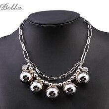 Collier femme mujeres granos de la joyería de boho de la manera multi-capa choker collar declaración collares y colgantes de bisutería (x0238)