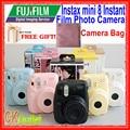 Fujifilm instax mini 8 + regalo libre para polaroid inmediata de la foto cámara en 7 Colores Rojo Rosa Púrpura Azul Amarillo Negro Blanco colores