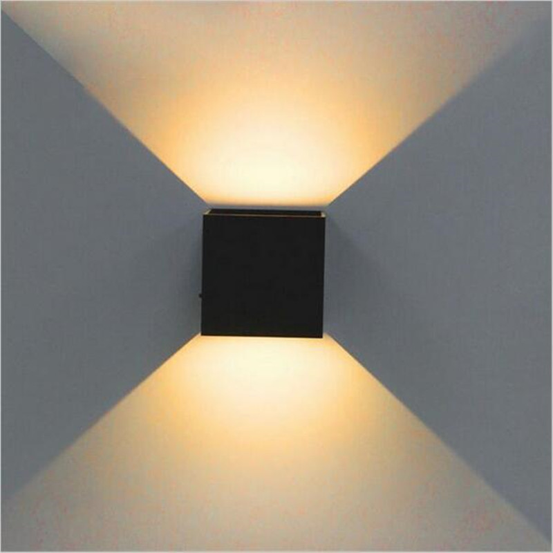 Led Lamps Cheap Price Outdoor Led Wall Light 8w 10w Cob Led Wall Yard Lamp Ip65 Aluminum Adjustable Surface Mounted Cube Waterproof Square 10*10*10cm