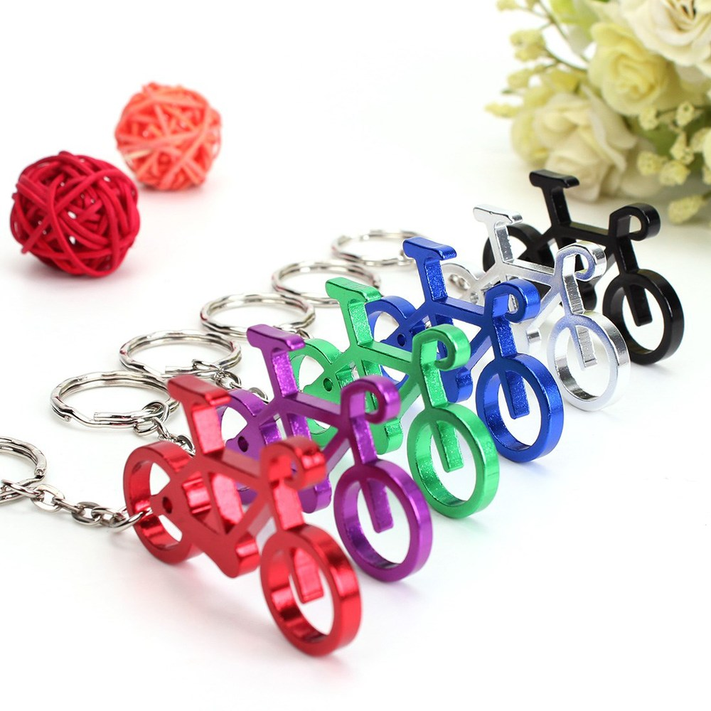 240 pcs Novelty Bike Bicycle Keychain Keyring Bottle Wine Beer Opener Tool 6 Colors