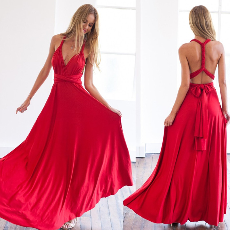 Popular Maxi Red Dress-Buy Cheap Maxi Red Dress lots from China ...