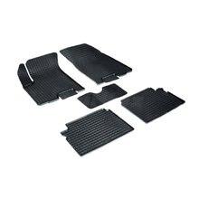 Для Chevrolet Aveo T250 2003-2010 резиновые коврики с рисунком Сетка Seintex 00266