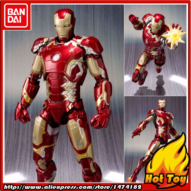 100% Original BANDAI Tamashii Nations S.H.Figuarts (SHF) Action Figure - Iron Man Mark 43 from Avengers 2 Age of Ultron anime captain america civil war original bandai tamashii nations shf s h figuarts action figure ant man