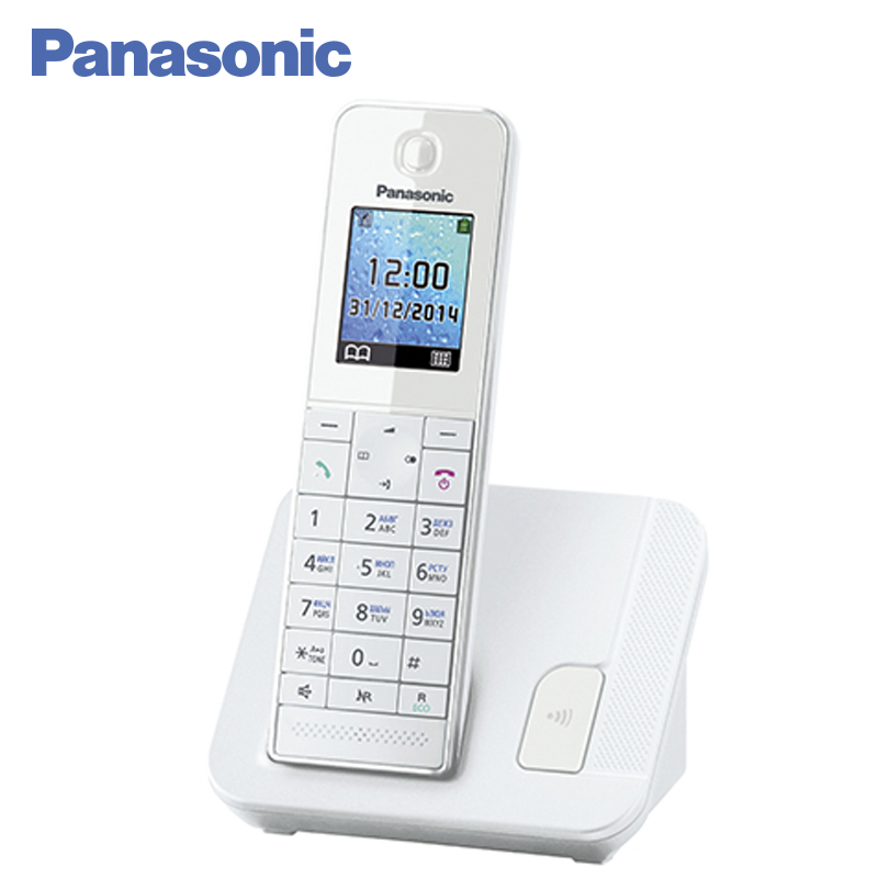 Panasonic KX-TGH210RUW DECT phone, Power Backup Function, Connecting additional handsets, Illuminated keypad, Redial, Caller ID panasonic kx tg2512rus dect phone additional handset included eco mode time date display communication between handsets