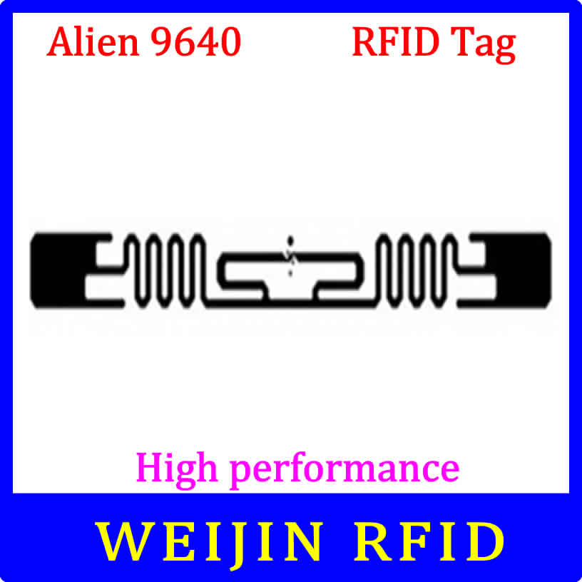 Alien 9640 UHF RFID dry inlay 860-960MHZ Higgs3 915M EPC C1G2 ISO18000-6C,can be used to RFID tag and label