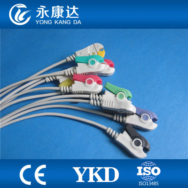 Câble EKG 10 fils pour machine HP M1770A ecg, IEC, Grabber