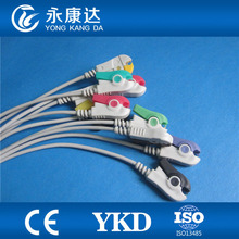 EKG Cable 10 Leads for HP M1770A ecg machine,IEC, Grabber