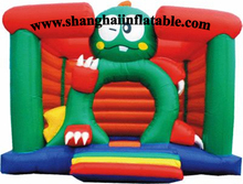 PVC indoor playground equipment/china inflatable playground /indoor frog bounce house/ jumping bouncy house