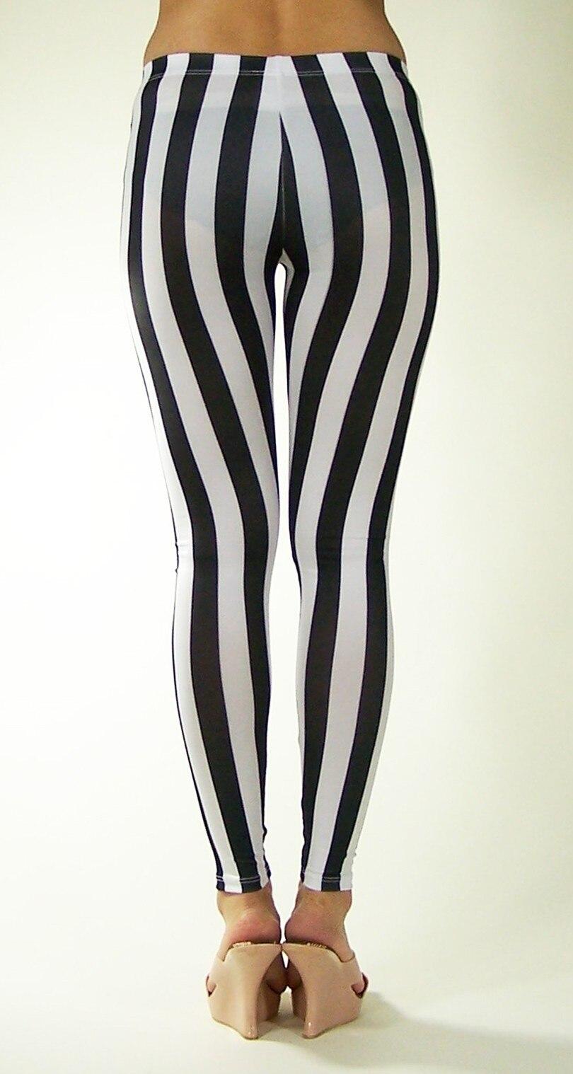 Spandex Zebra Vertical Stripe Print Leggings
