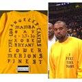 Yeezus Kanye West Eu Me Sinto Como o KOBE & Pablo comemorar de manga longa T camisa Temporada 3 Hiphop Yeezy Tee Tamanho S-3XL camiseta masculina