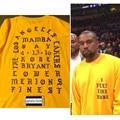 Yeezus Kanye West Me Siento Como KOBE y Pablo conmemorar de manga larga T Temporada 3 Hiphop Tee shirt Yeezy Tamaño S-3XL hombre camiseta