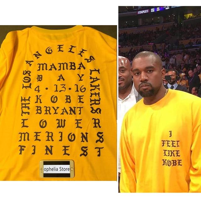 Yeezus Kanye West Me Siento Como KOBE y Pablo conmemorar de manga larga T  Temporada 3 502f4bc513f