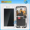 Для Motorola для Moto X xt1058 xt1060 жк-дисплей с сенсорным экран digitizer с рамкой ассамблеи 1 шт. бесплатная доставка + бесплатный инструмент