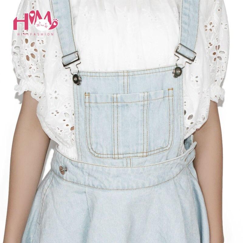 Vivi Japan Sstrap School Denim Dress For Ladies Dark Blue Removable Summer Detachable Student Overalls Dress Women Kawaii Cloth 5
