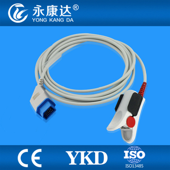 Nihon Kohden Adult Finger Clip sensor compatible with Nihon Kohden BSM-4113 Life scope P, 14pins фото