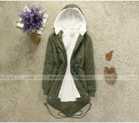 свободного покроя женщин зима сгущаться теплое с капюшоном военный куртки из флиса почтовый шерсть пиджаки L хl бесплатная доставка # l0341346