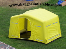 good quality yellow cube inflatable tent camping&hiking sun shelter /awning camping sun cover