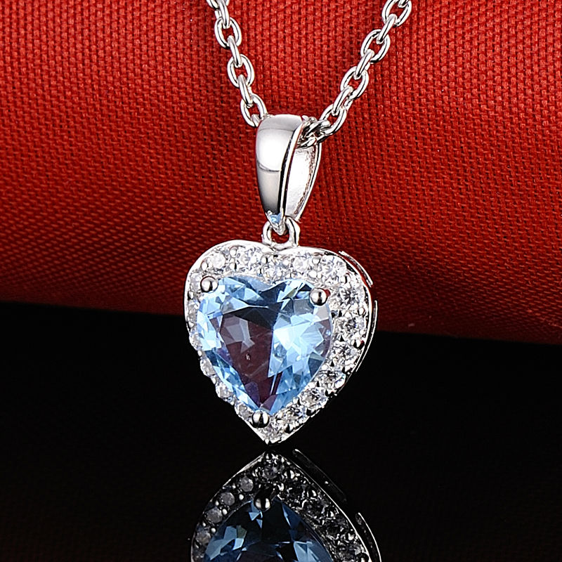 Pendant Necklace - P303057BLGZ1SL925-SV11