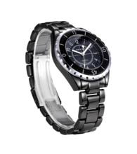 Sinobi imitación de cerámica de los amantes relojes hombres de cuarzo analógico mujeres parejas reloj Casual Luxury Brand negro blanco del reloj del relogio