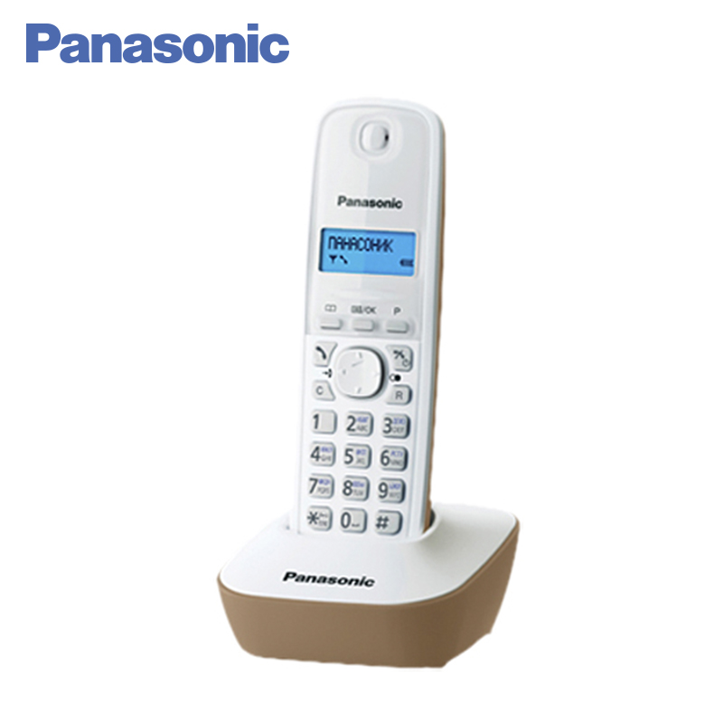 Panasonic KX-TG1611RUJ DECT phone, digital cordless telephone, wireless phone System Home Telephone. panasonic kx tg2512ru1 dect phone 2 handset digital cordless telephone wireless phone system home telephone