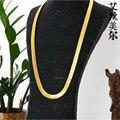 Collar de la alta calidad W1 ~ 1.4 CM L76CM 24 K chapado en oro enlace Hip Hop Franco cadena de la serpiente de espiga ASAP ROCKY mismo estilo para estrella