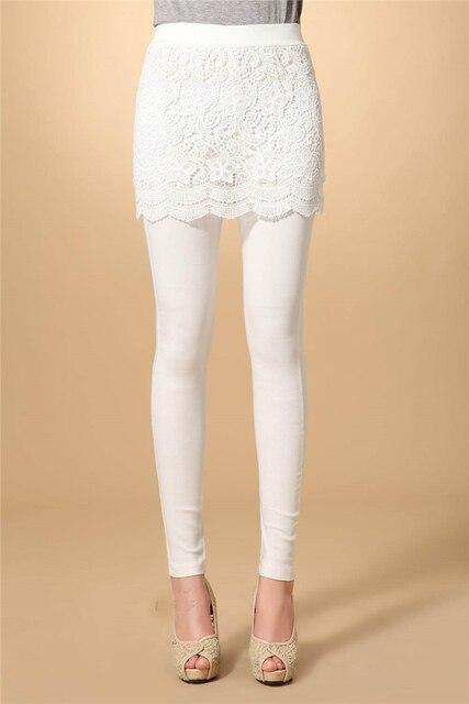 Women's Lace Fake Two Piece Skirt/Slim Fashion Leggings  NC064