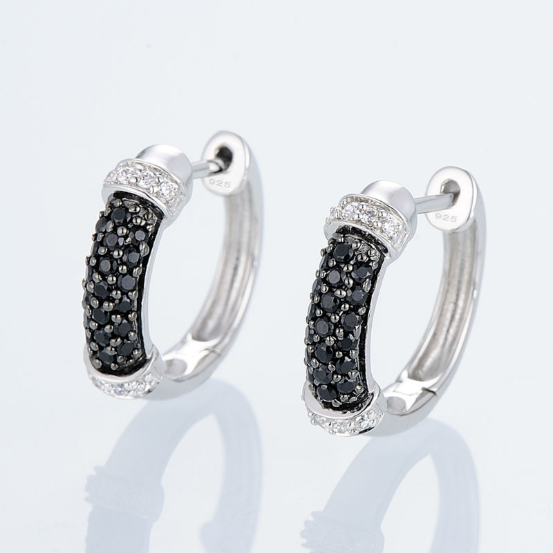 Silver EarringsE301074BSNZSL925-SV4-W