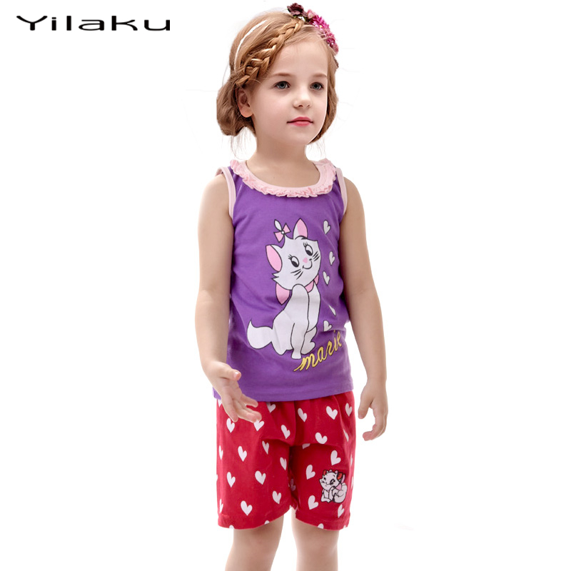 New girl minnie pijamas sets kids clothes girls cartoon T shirt and shorts pyjamas