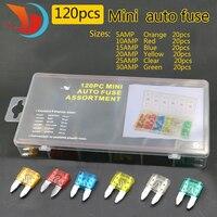 Standard 120pcs Set Auto Automotive Car Boat Truck Blade Fuse Box Assortment 5A 10A 15A 20A