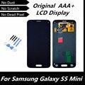 100% Testado LCD Original em Preto para Samsung Galaxy S5 Mini Display LCD para G800 G800F com Tela de Toque Digitador Assembléia