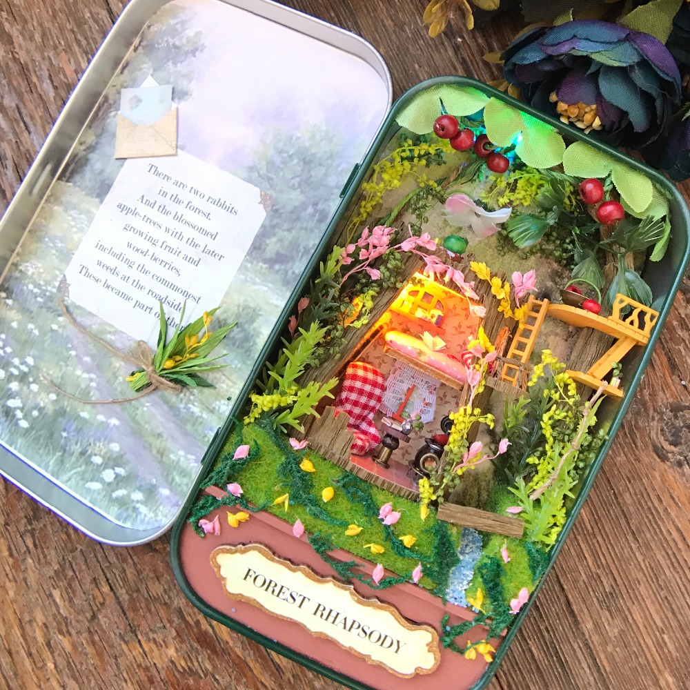 Набор для создания миниатюрного домика в коробочке с Алиэкспресс