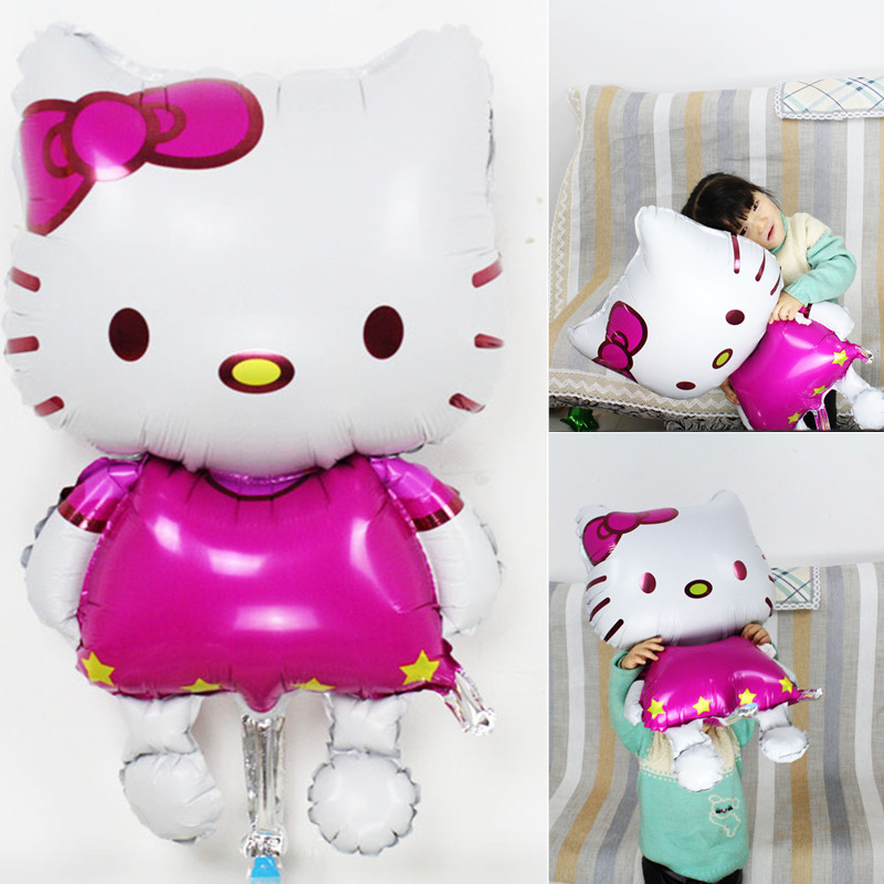 1pcs Hello Kitty Cat foil balloons cartoon birthday decor supplies wedding party