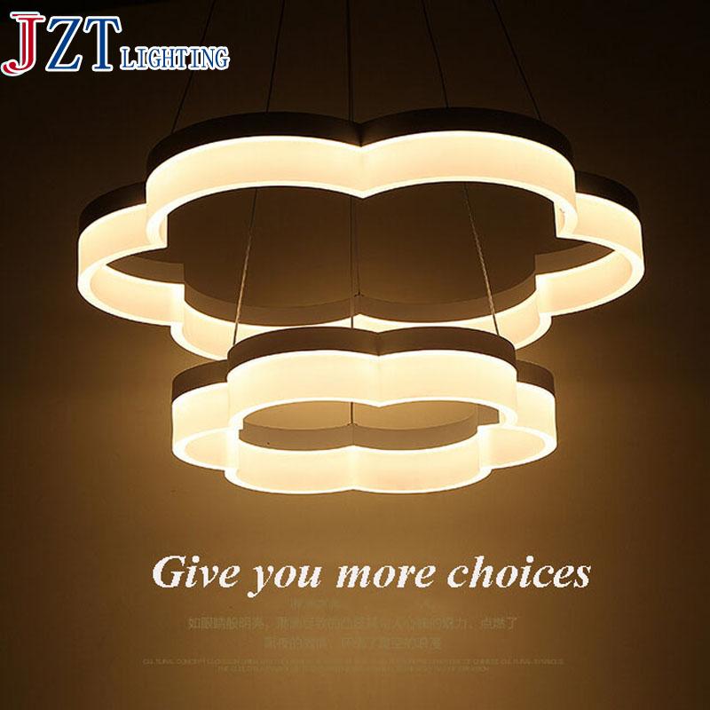 M LED Acryl Pendelleuchten Moderne Runde Lampe Licht Fr Wohnzimmer Caf 2 Ringe Restaurant Pendelleuchte