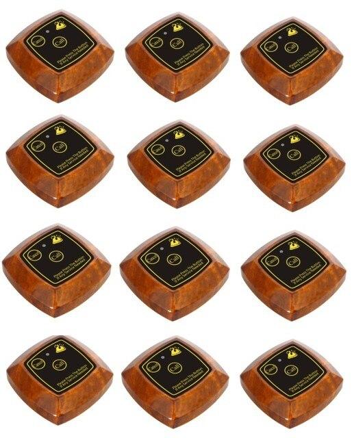 Бесплатная доставка! таблица звонить колокола, 12 беспроводная система вызова ресторан зуммер, ресторан вызова официантов, вызова службы