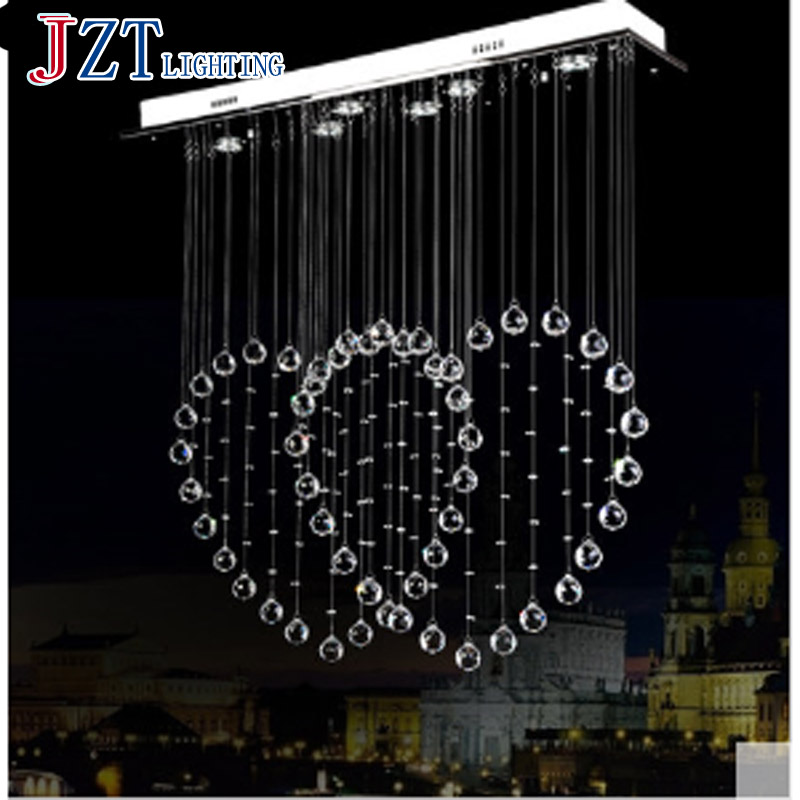 T Modern Lustre Crystal Chandeliers Crystal Dining-room Lamp Droplight Pandent Lamp led light t best price modern lustre rectangular crystal chandeliers for dining room pandent lamp with led bulbs for entrance aisle