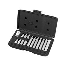 Набор бит STELS 11313 (15 предметов, HEX, 10 мм, хром-ванадиевая сталь, твердость 50-53 HRC, пластиковый кейс)