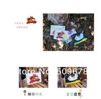 """бесплатная доставка мелки корейский """"путешествия воздушный шар дом"""" серии из 10 дюйм поделки альбом / детские альбом"""