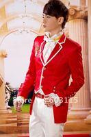 бесплатная доставка! h085-t077 форма с смокинги красный цвет костюмы комплект