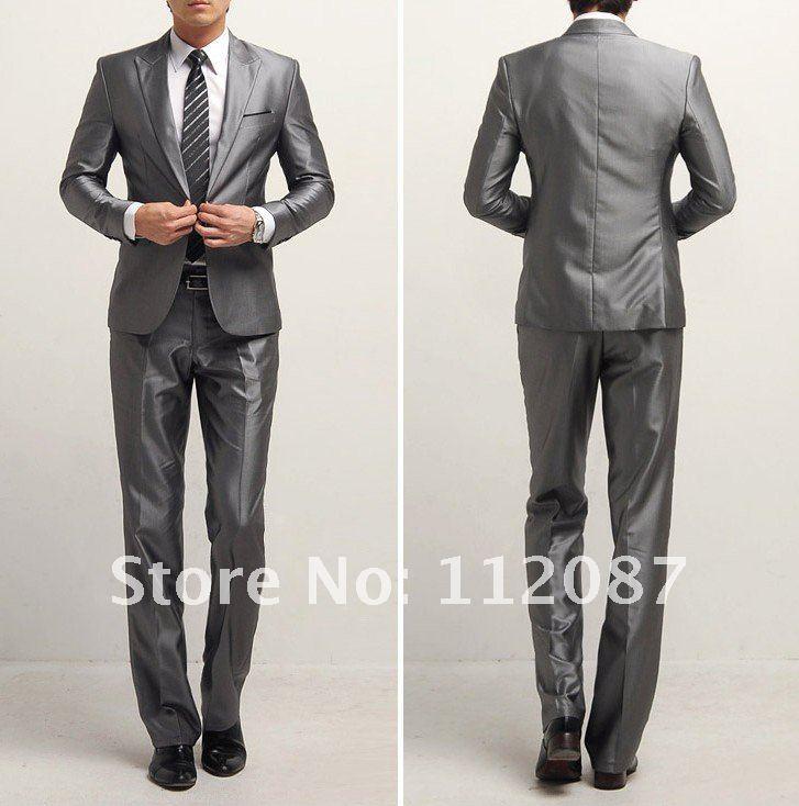 Luxury Bridegroom Men Business Wedding Suits Slim One Button Set