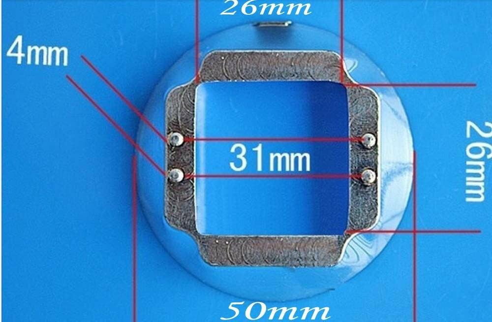 44 мм объектив+ коллиматор отражателя+ скобы для фиксирования для 20 Вт 30 Вт 50 Вт 70 Вт 100 Вт светодио дный