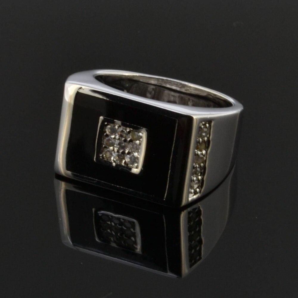 Чистое серебро черный огранка кольцо для мужчин Cool Ox Totems брелоки в стиле стимпанк ювелирные изделия Винтаж подарок