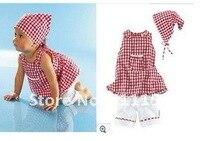 лето мода стиль девушка tel Plate + рукавов футболка + белый Capri 3 шт. / комплект бесплатная доставка в розницу