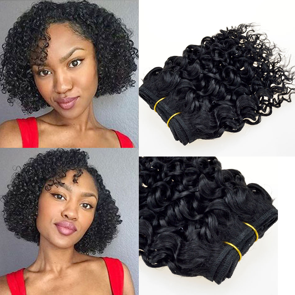 7a Brazilian Remy Afro Kinky Virgin Hair 6pcs Brazilian Short