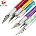 Cuchillo de afición de precisión cuchillas de acero inoxidable para artesanías PCB Reparación de películas de cuero herramientas pluma multiusos maquinilla de afeitar DIY