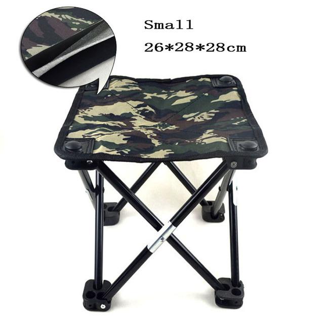 Novo 2016 camuflagem Cadeira de tamborete de dobramento de pesca pequeno portátil Mini Camping equipamento de pesca Cadeira pequeno tamanho 26 X 28 X 28 CM