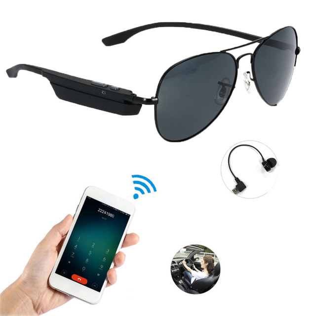 a433c83e9a4a K3 Bluetooth Headset Sunglasses Polarized Glasses Wireless BT4.1 EDR Music  Earphone Micro USB Hands
