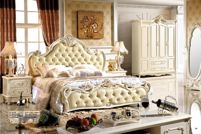 Nieuwe klassieke slaapkamer meubilair Bed Ontwerp Koning Bed Set ...