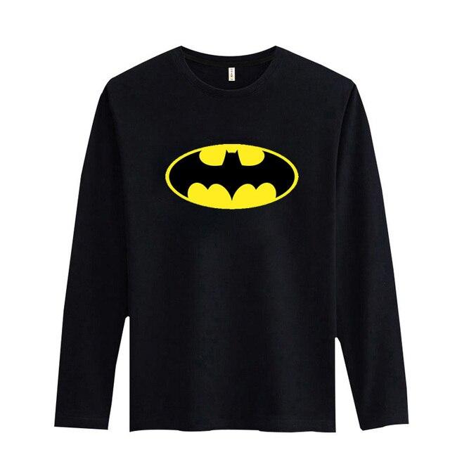 Batman Symbol T Shirts Blackwhite 2017 Men Tshirt Long Sleeve Soft