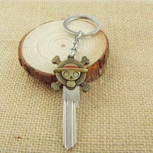 One Piece Luffy Straw Hat Skull Double Pendants Keychain